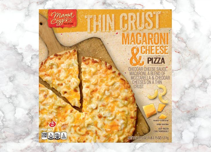 aldi mama cozzis thin crust mac and cheese pizza