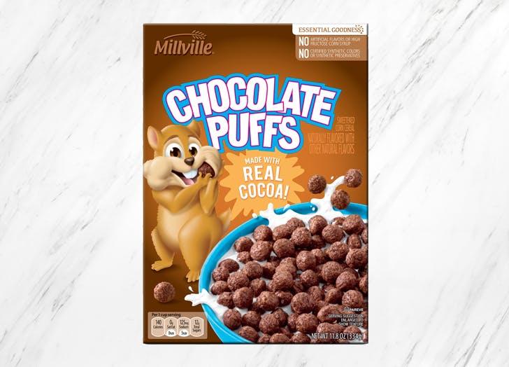 aldi millville chocolate puffs
