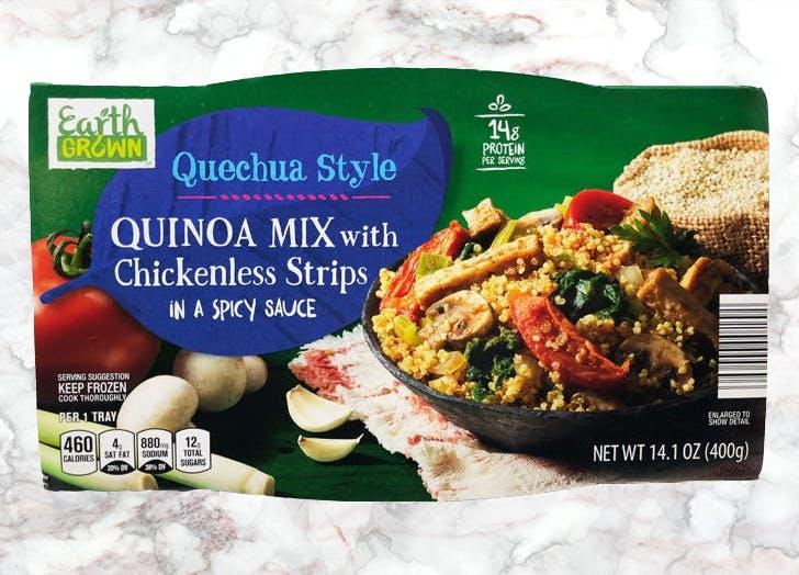aldi quechua style quinoa mix chickenless strips