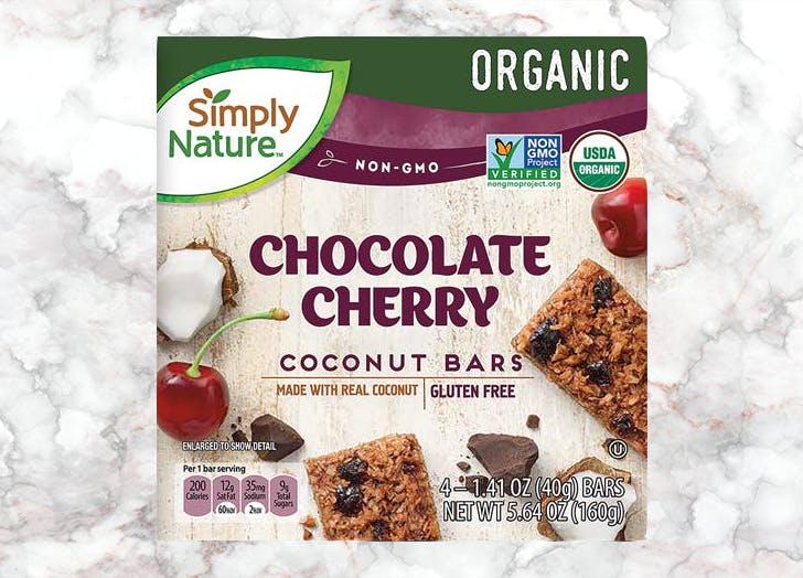 aldi simply nature chocolate cherry coconut bars