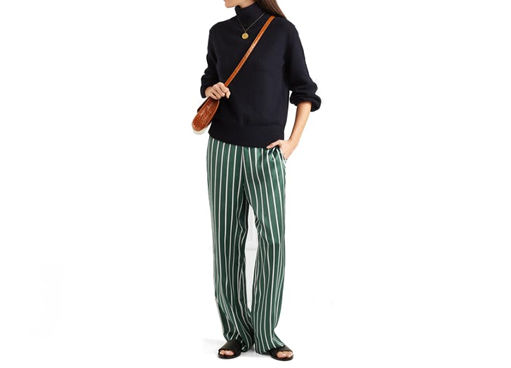 asceno silk striped pajama pants