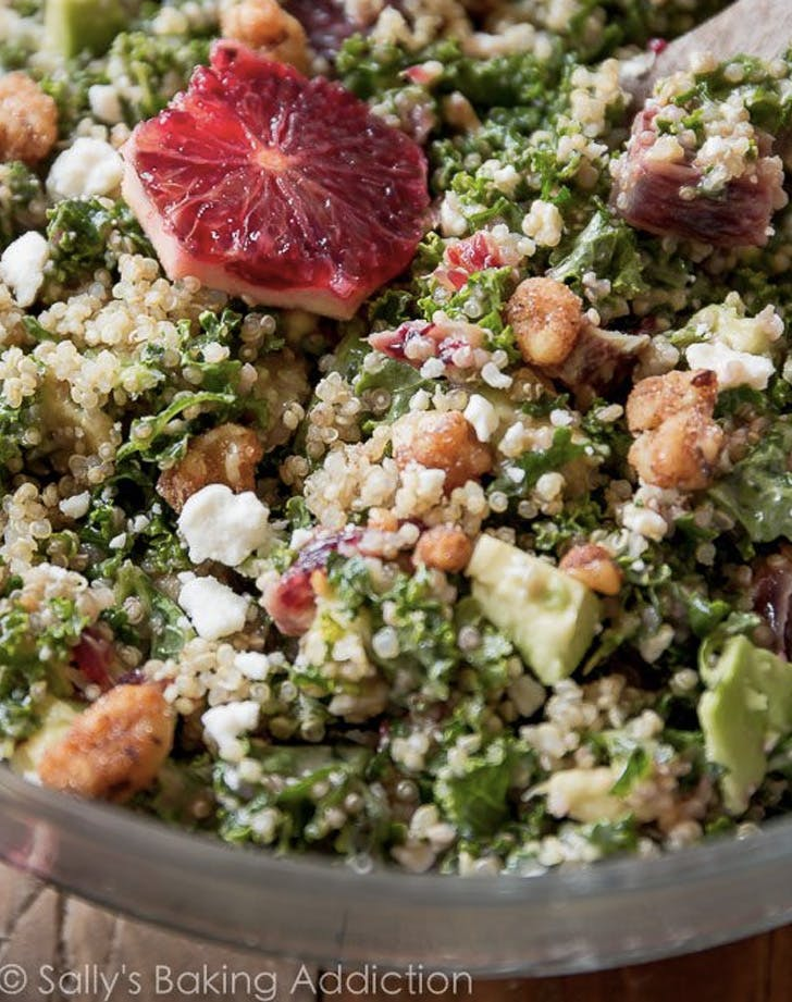 blood orange avocado quinoa and kale salad recipe