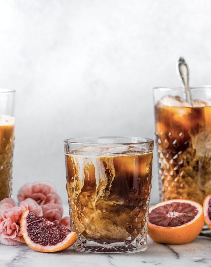 blood orange cold brew iced coffee recipe