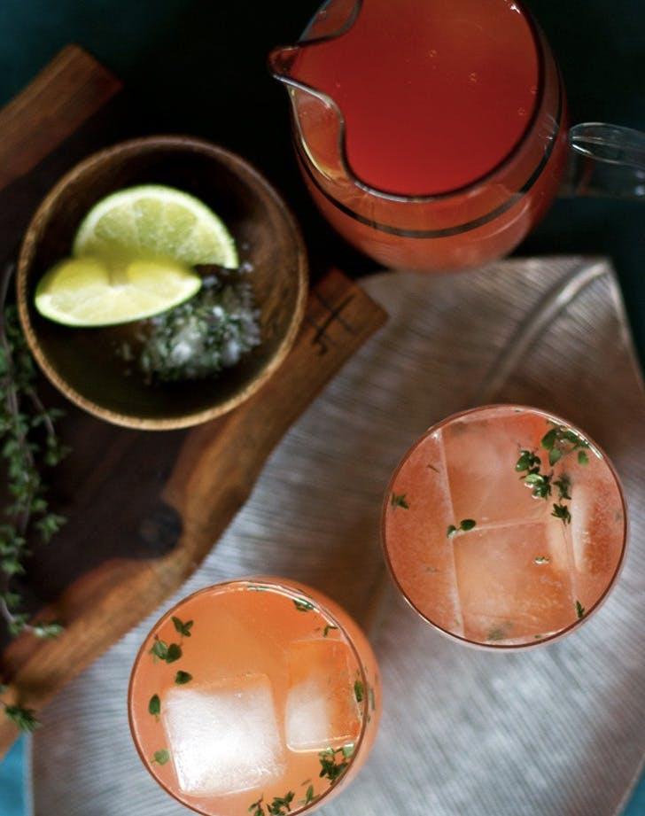 blood orange thyme paloma cocktail recipe