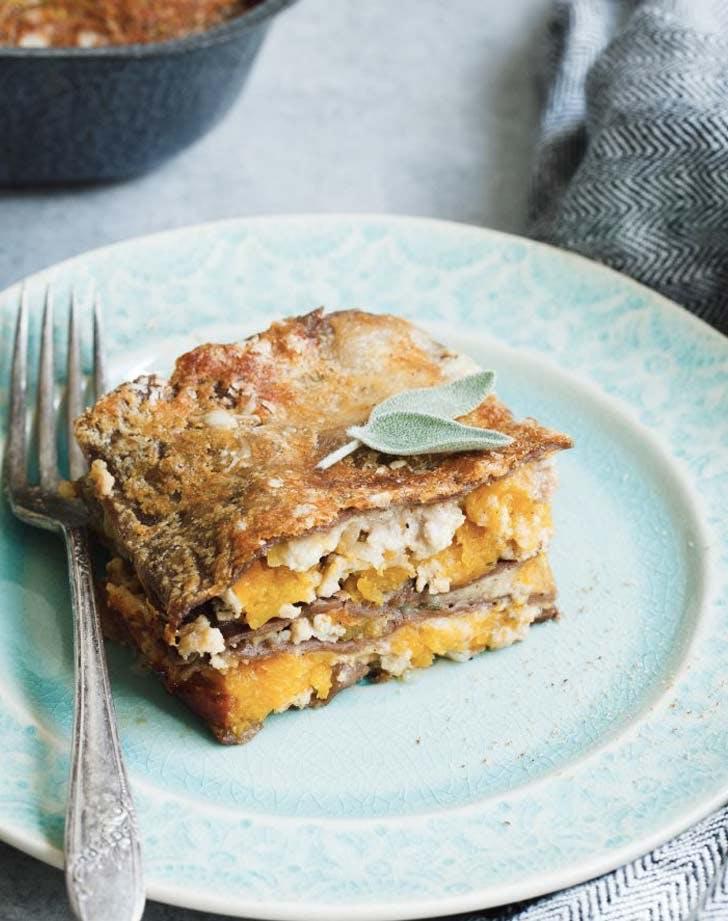 butternut squash ground turkey lasagna