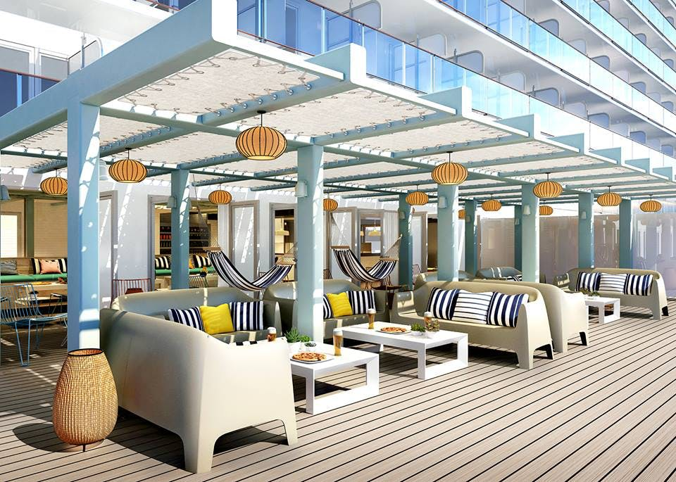 cabanas to lounge in onboard the virgin voyages scarlet lady cruise ship