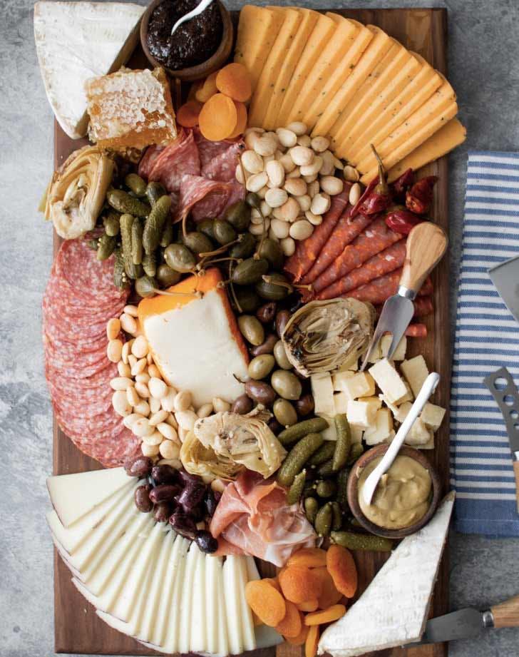 cheese and charcuteria board