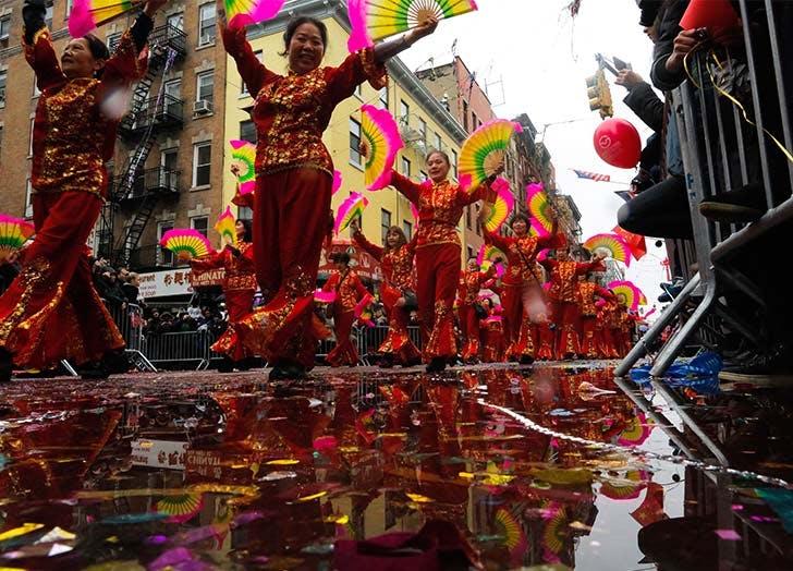 china towns friecracker ceremony