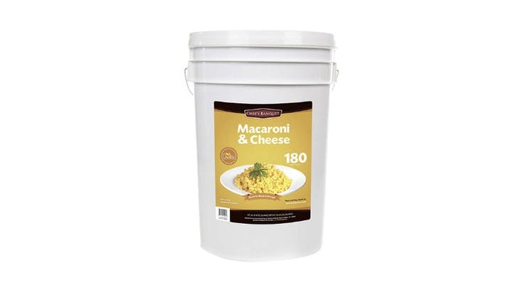*Of Course* Costco Sells a 27-Pound Tub of Shelf-Stable (Yep) Macaroni and Cheese