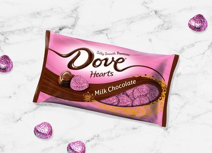 dove chocolate valentines hearts