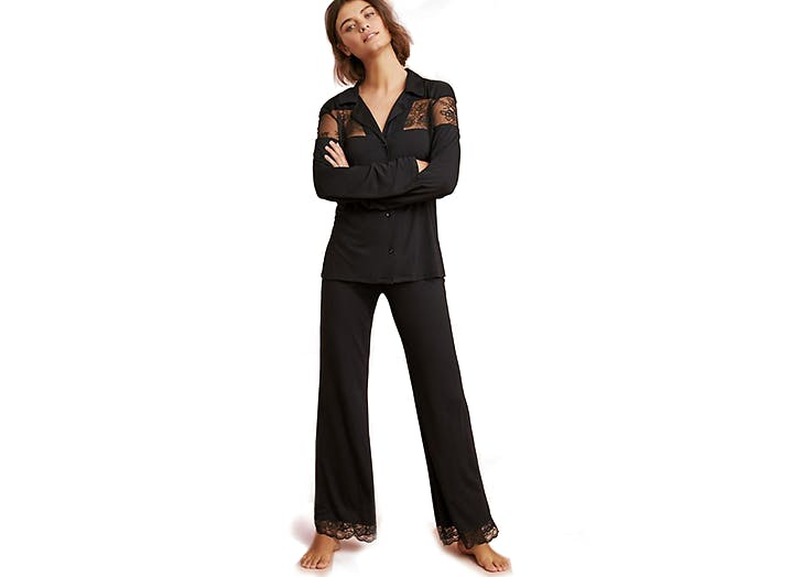 eberjay black and lace pajamas