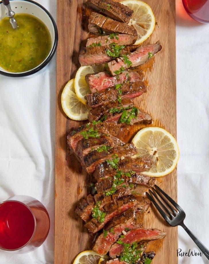 grilled flank steak valentines day dinner