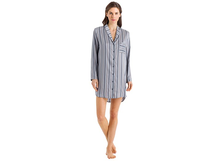 hanro striped sleep shirt pajamas