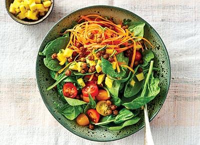 indian salad bowl crunchy chickpeas 290
