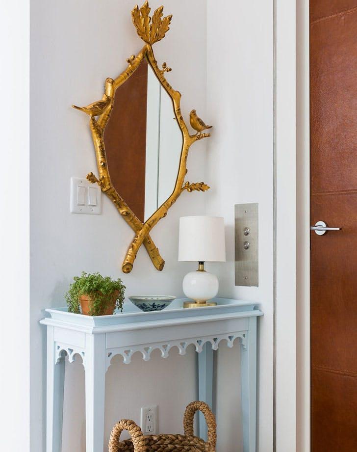 intimate blue foyer1