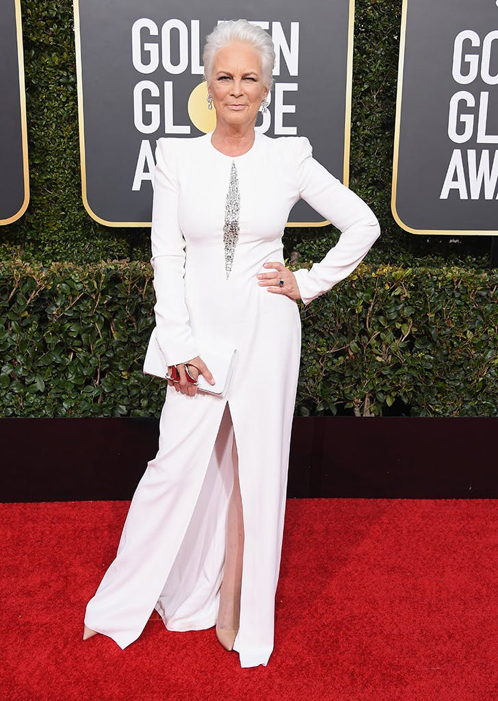 Jamie Lee Curtis Shut Down the Red Carpet in (Literally) Head-to-Toe All-White