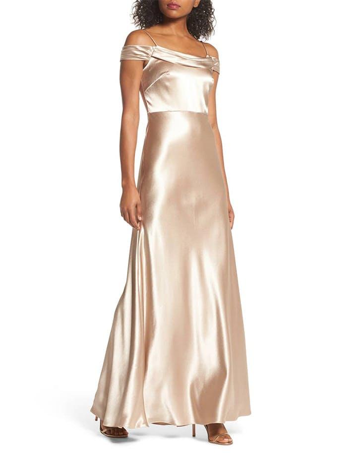 jenny yoo satin dress
