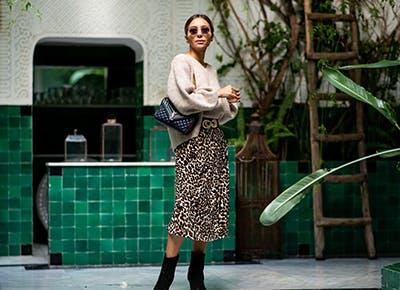 leopard print skirt 400