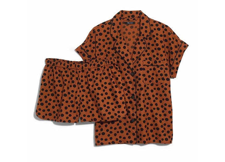 madewell leopard print pajamas