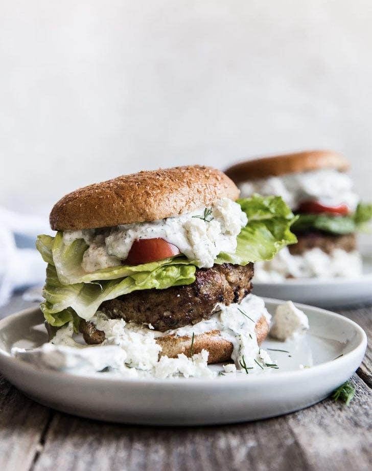 mediterranean ground tukey burger