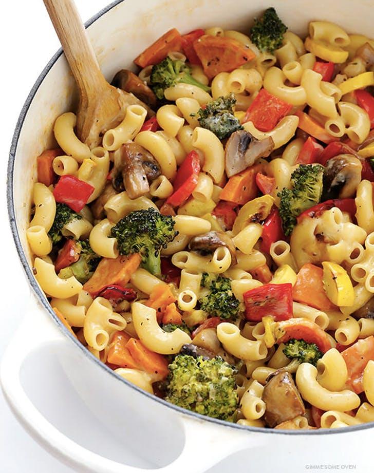 mediterranean diet roasted vegetable mac and cheese recipe