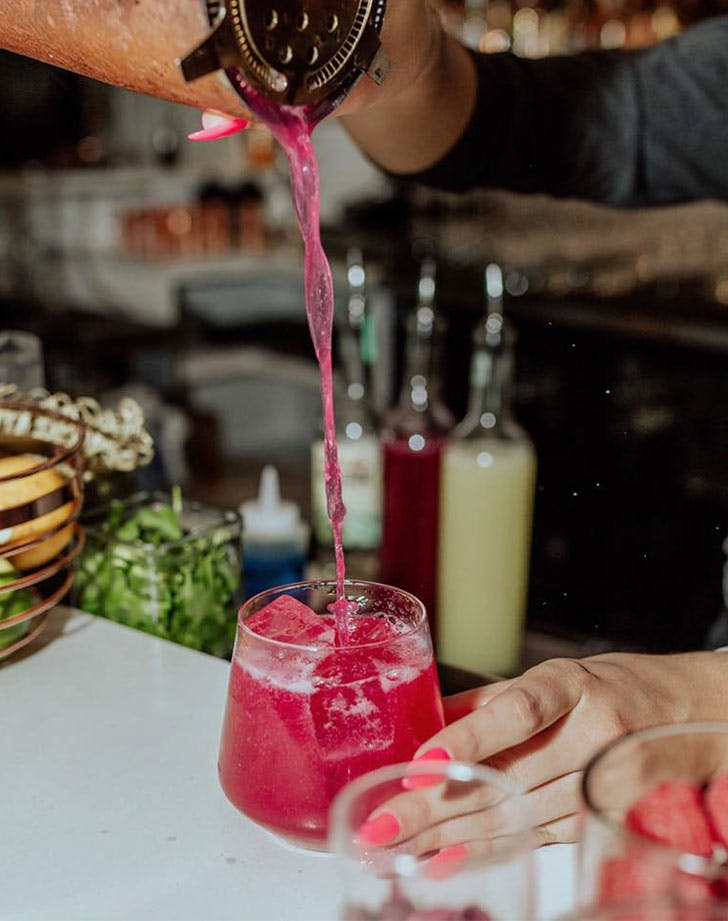 miami pink cocktail