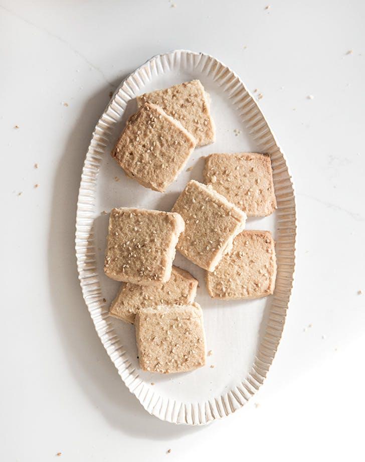 miso sesame shortbread cookies recipe