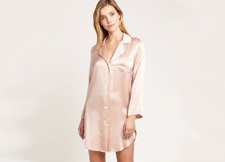 morgan lane silk sleep shirt pajamas