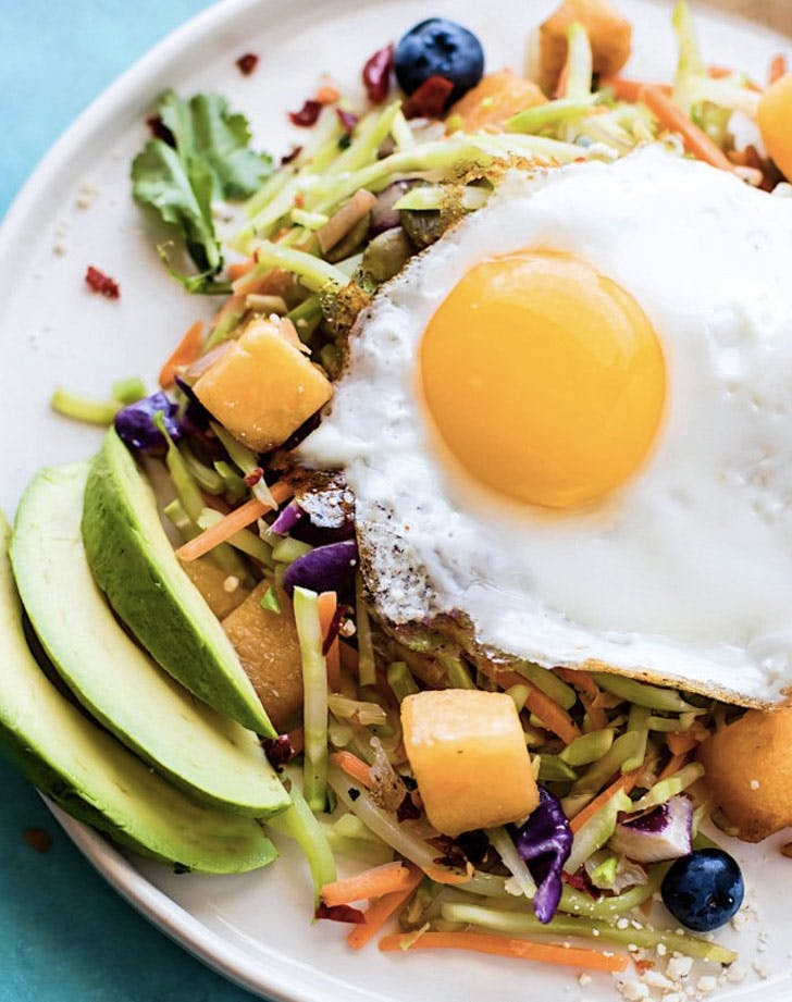 nourishing paleo warm breakfast salad recipe