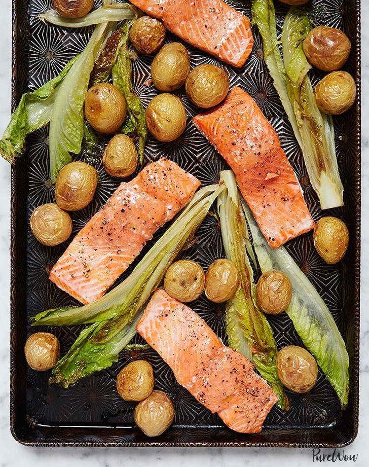 one pan roasted salmon potatoes valentines day dinner