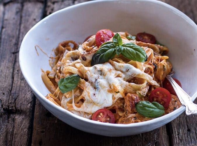 one pot tomato pasta bake