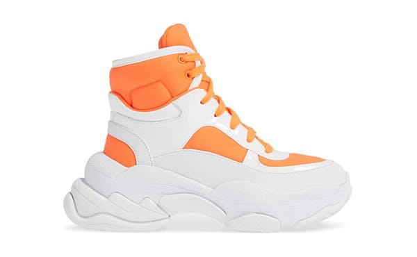 orange and white high tops