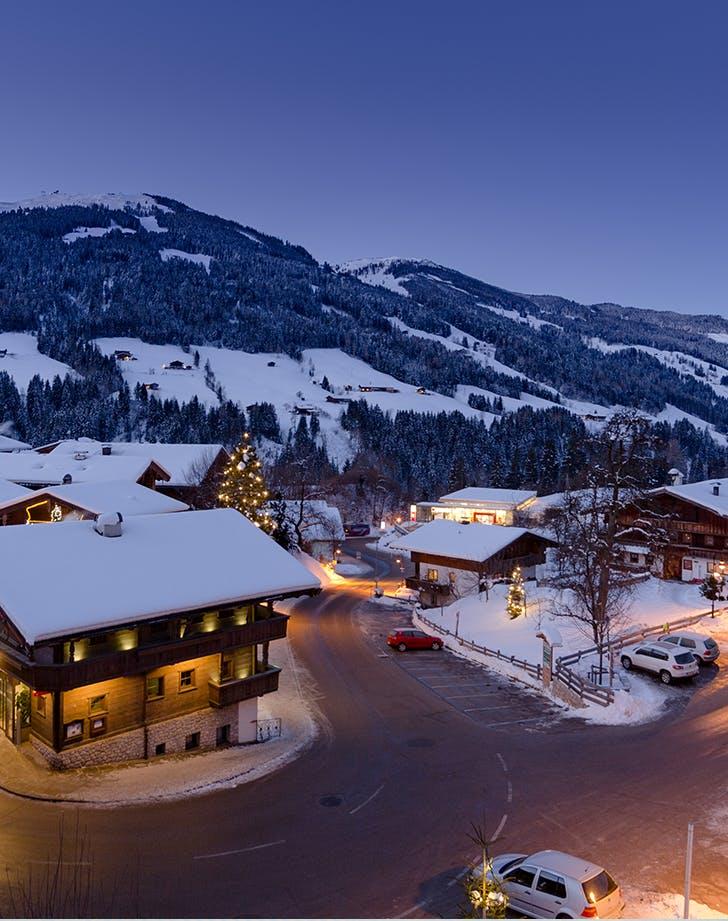 skiing in Alpbach  Austria