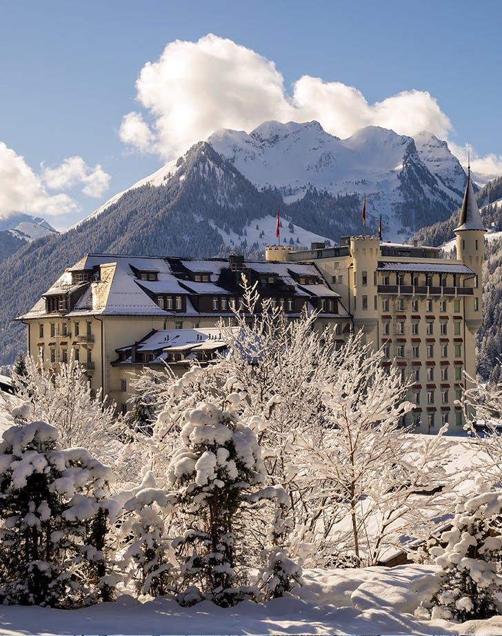 skiing in Gstaad  Switzerland