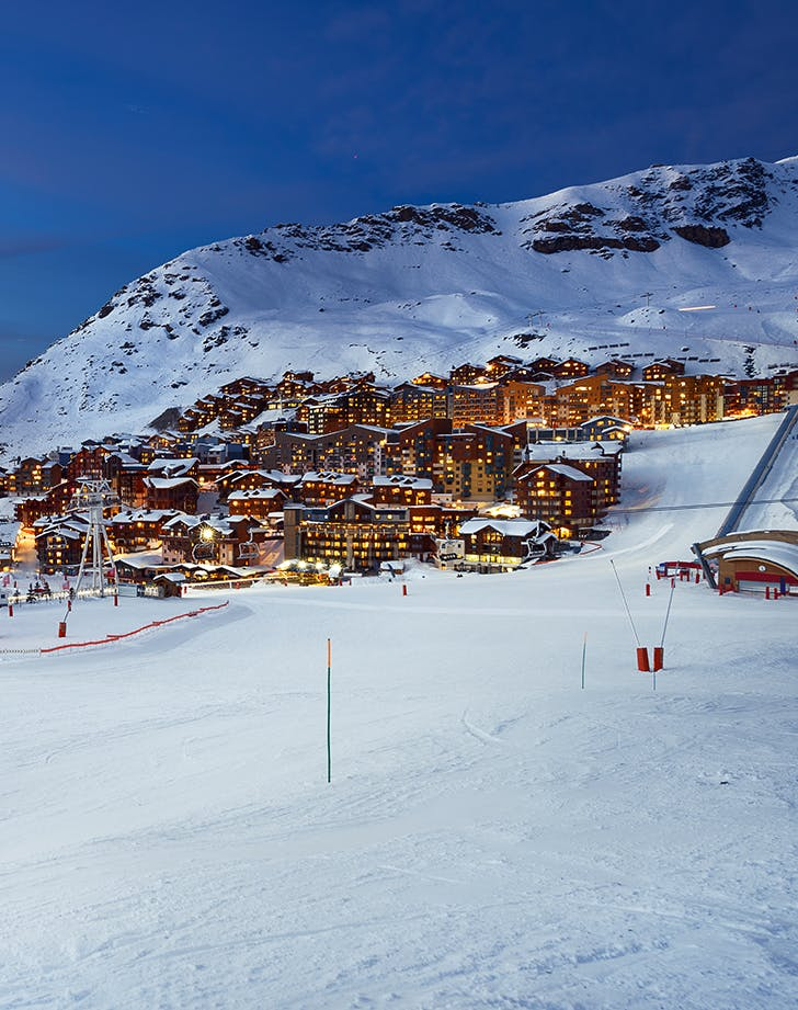 skiing in Val Thorens  France