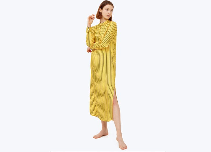 sleepy jones striped caftan pajamas