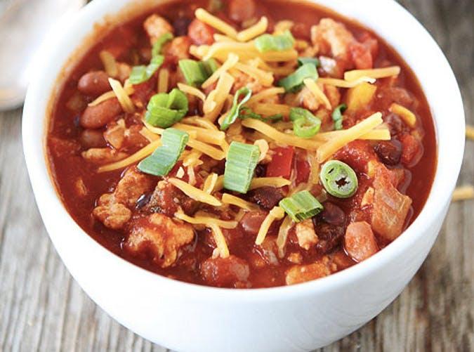 slow cooker turkey chilli