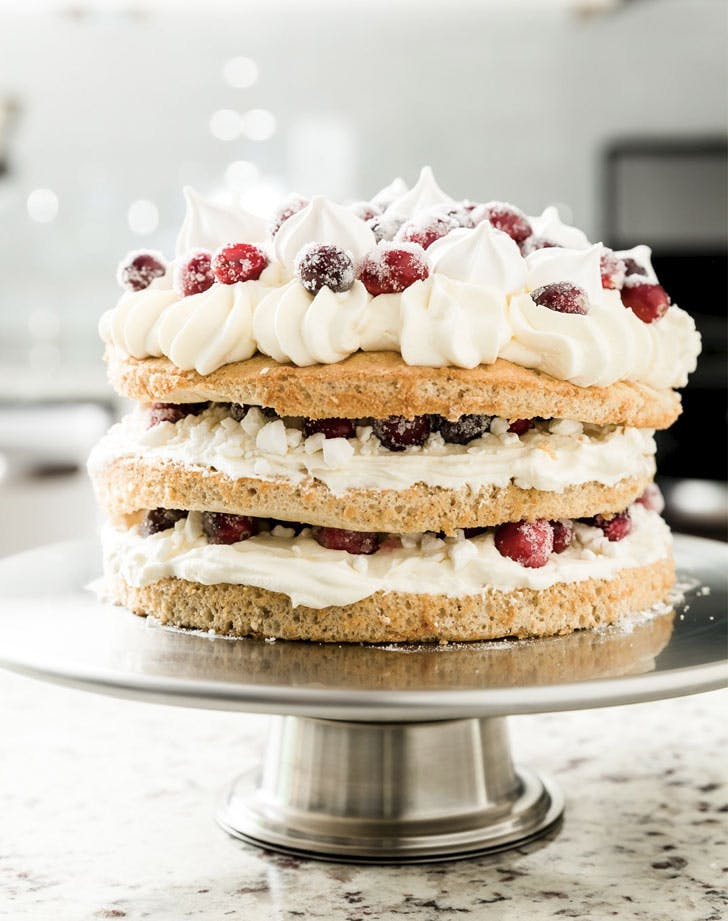 spiced cranberry elton mess naked cake