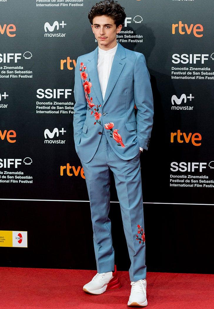 timothee chalamet alexander mcqueen suit san sebastian film festival