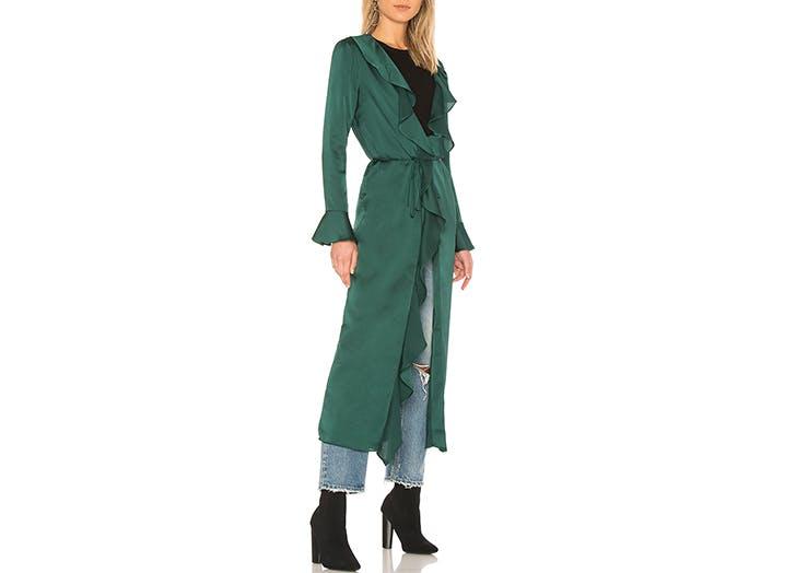 tularosa green silk robe