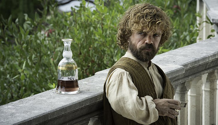 tyrion lannister game of thrones drinking