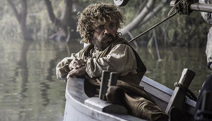 tyrion lannister on a boat