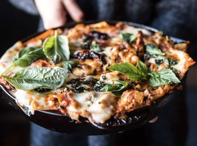 vegetarian skiller lasagna