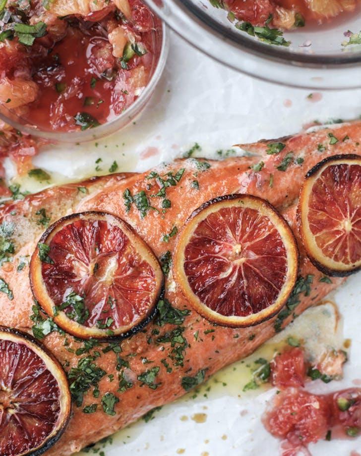 winter citrus butter salmon recipe