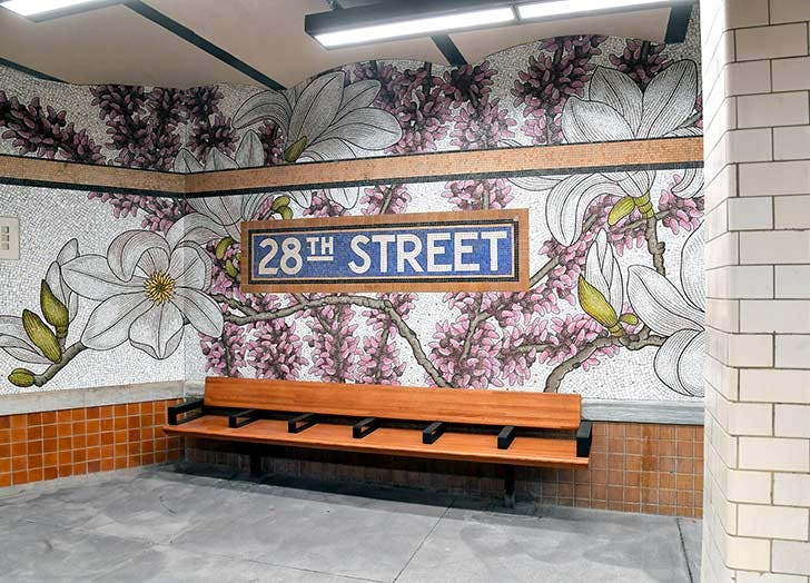 28th street subway station art