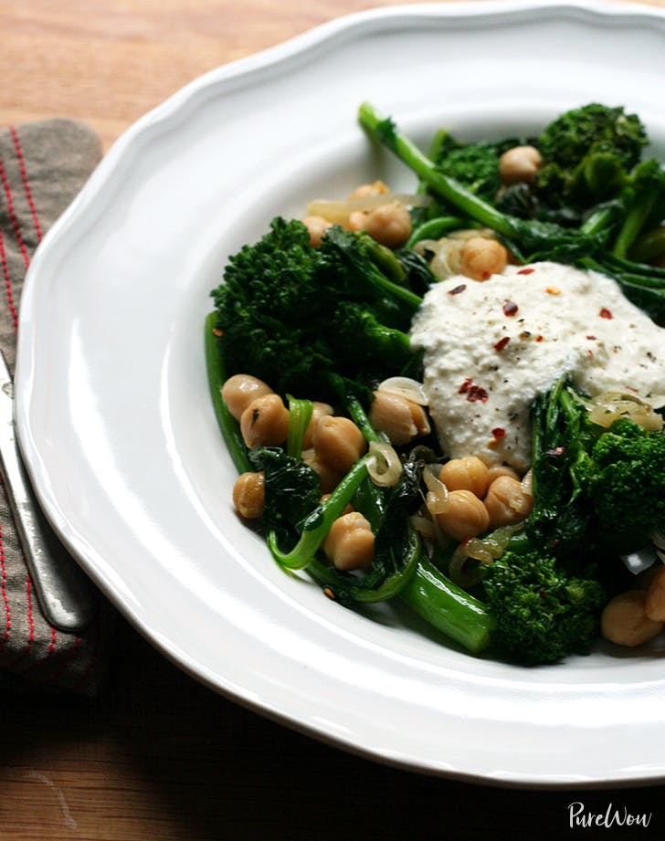Broccoli Rabe With Chickpeas And Ricotta Recipe