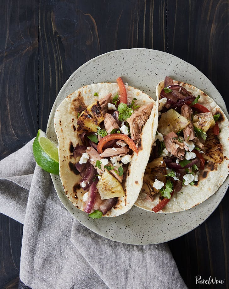 Jackfruit Tacos with Grilled Pineapple