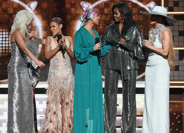 Michelle Obama  Lady Gaga  Alicia Keys  Jada Pinkett Smith at 2019 Grammys