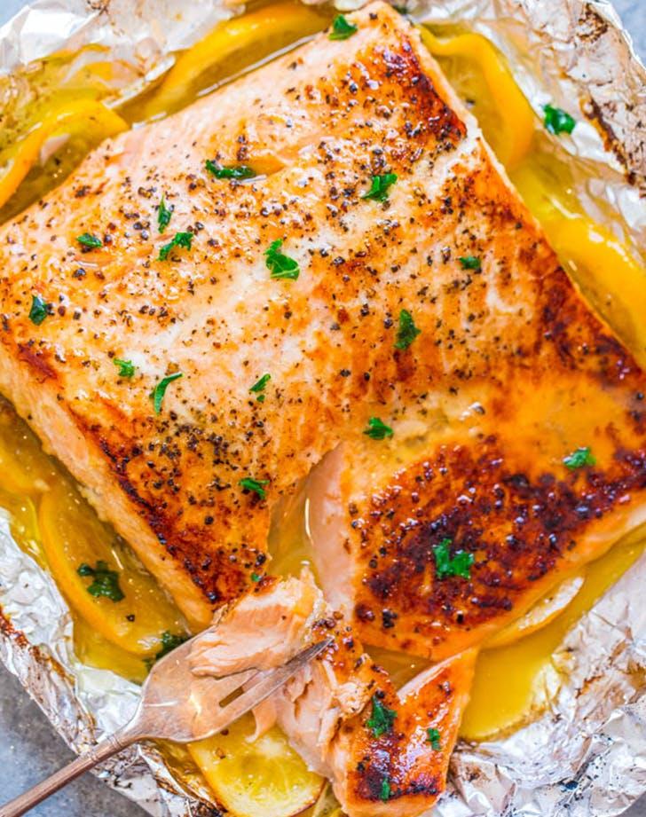 Sheet Pan Garlic Lemon Butter Salmon