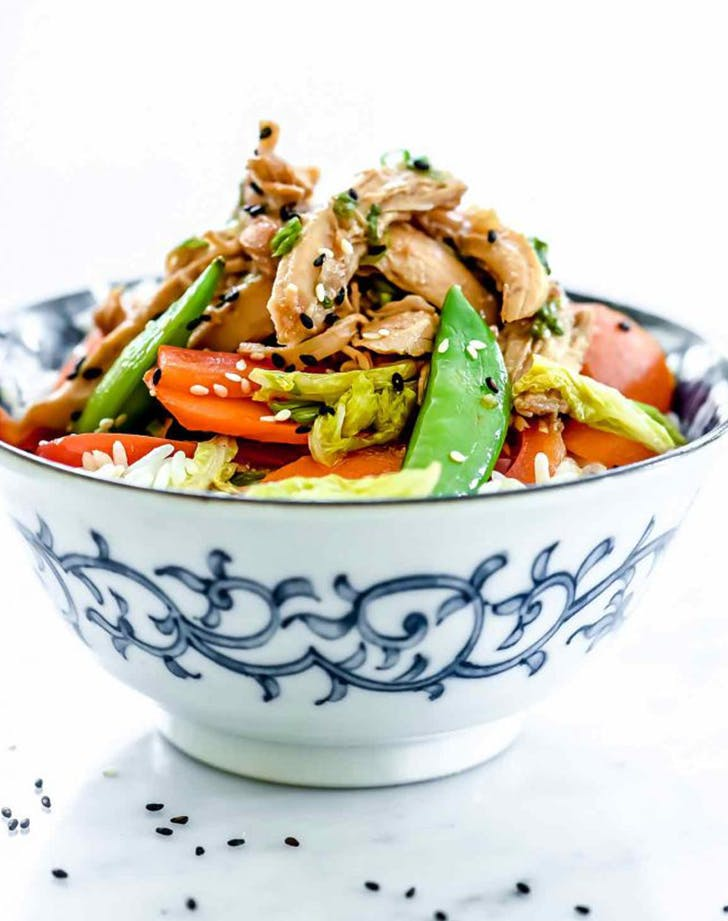 Slow Cooker Teriyaki and Chicken Rice Bowls